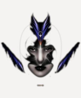 Angel Eyes Wings Of Wind ISO Fractal Art Shirt