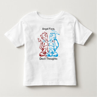 Angel Face, Devil Thoughts Toddler T-shirt