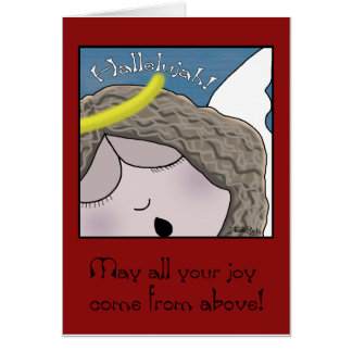 Angel Face Hallelujah Card