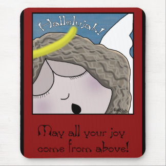Angel Face Hallelujah Mouse Pad