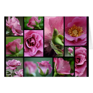Angel Face Rose Collage Greeting Card