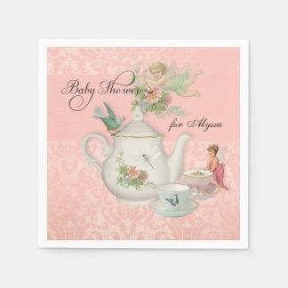 Angel Fairy Teapot Tea Cup Party Baby Shower Decor Napkin