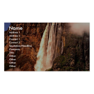 Angel Falls on Auyan Tepui, Venezuela Double-Sided Standard Business Cards (Pack Of 100)