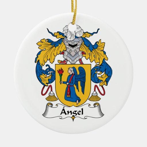 Angel Family Crest Christmas Ornament