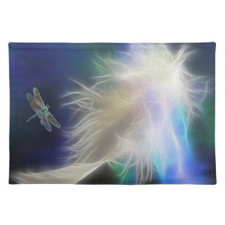 Angel Feather and Dragonfly Cloth Place Mat