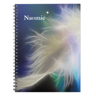 Angel Feather and Star Notebook