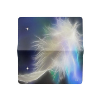 Angel Feather and Stars Checkbook Cover