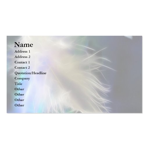 Angel Feather Business Card