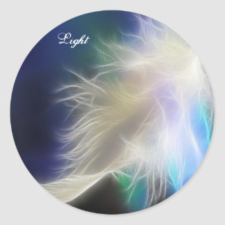 Angel Feather! Classic Round Sticker