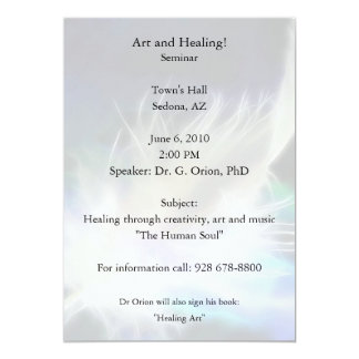 Angel Feather Healing! 5x7 Paper Invitation Card