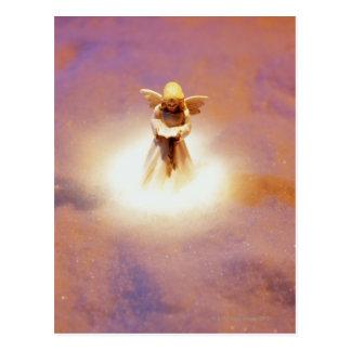 Angel Figurine in Snow Postcard