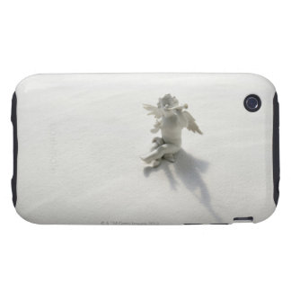 Angel figurine with musical instruments on white tough iPhone 3 cover