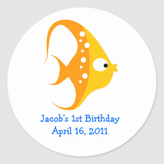 ANGEL FISH Baby Shower or Birthday Favor Stickers