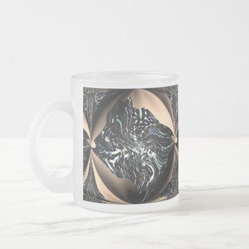 Angel Fish Frosted Glass Mug