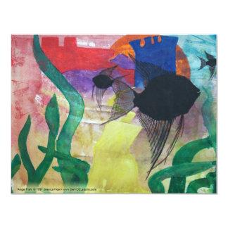 "Angel Fish Invitation 4.25"" X 5.5"" Invitation Card"