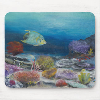 Angel fish painting on mouse pad