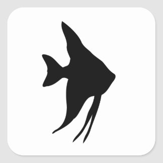 Angel Fish Silhouette Stickers