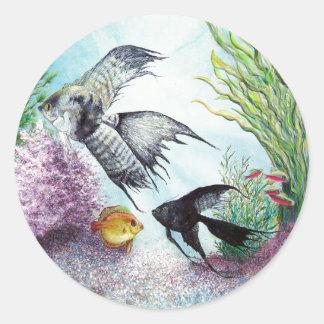 Angel Fish Sticker