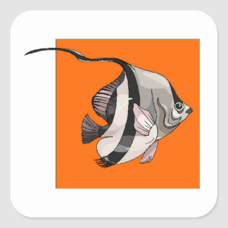 Angel Fish Square Stickers