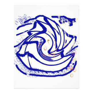 angel fish swirl flyer