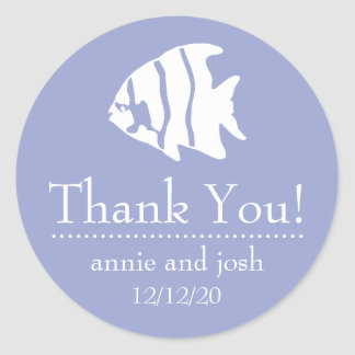 Angel Fish Thank You Labels (Purple)
