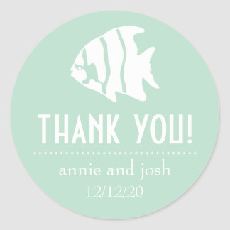 Angel Fish Thank You Labels (Sage Green)