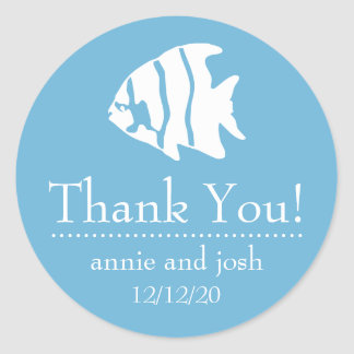 Angel Fish Thank You Labels (Sky Blue)