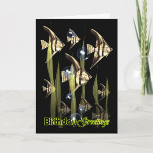 Angel birthday cards zazzle angel fish wish birthday greetings card m4hsunfo
