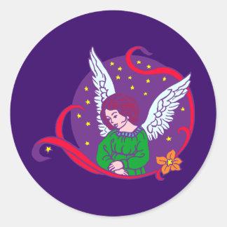 Angel fishing rod sticker