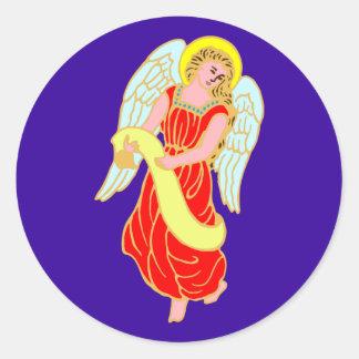 Angel fishing rod stickers