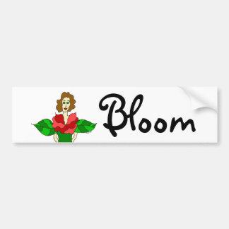 """Ángel """"floración """" del jardín etiqueta de parachoque"""