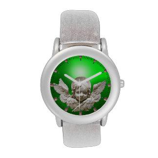 ÁNGEL FLORENTINO del RENACIMIENTO verde esmeralda