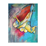 Angel Flower Stretched Canvas Prints