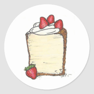 Angel Food Angelfood Cake Slice Strawberry Sticker