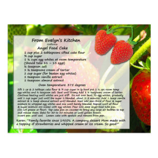 Angel Food Cake Postcard