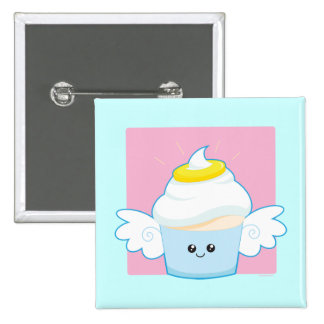 Angel Food Cupcake 2 Inch Square Button