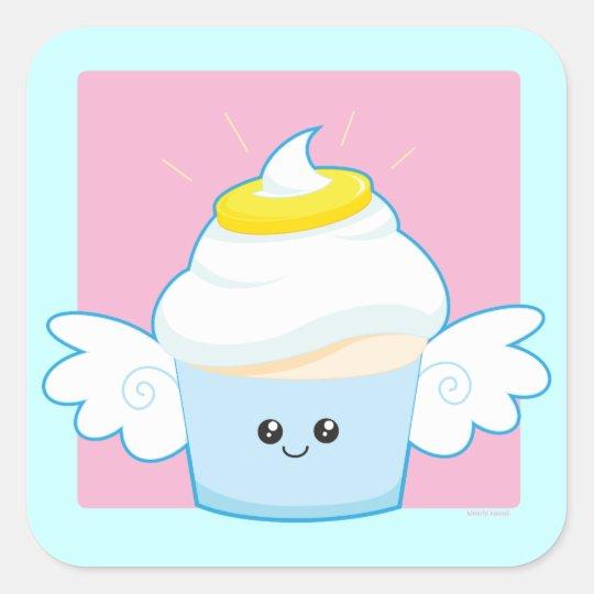 Angel Food Cupcake Square Sticker