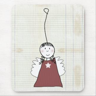 angel for christmas mouse pad