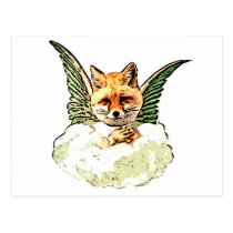 Angel Fox Postcard