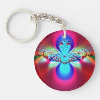 Angel Fractal Keychain