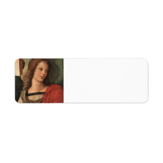 Angel (fragment of Baronci altarpiece) by Raphael Labels