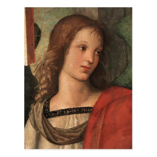 Angel (fragment of Baronci altarpiece) by Raphael Post Card