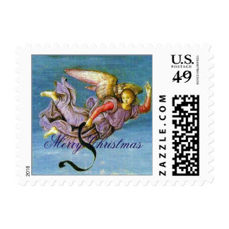 Angel Fresco Raphael Fine Art Postage Stamp
