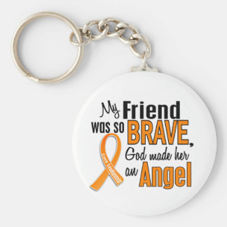 Angel Friend (Female) Leukemia Keychain