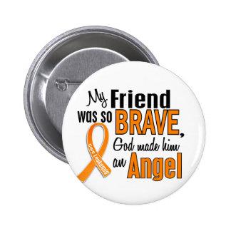 Angel Friend (Male) Leukemia 2 Inch Round Button