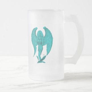 Angel Frosted Glass Beer Mug