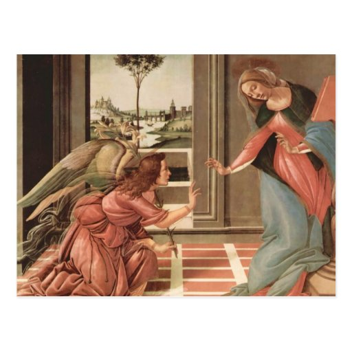 Angel Gabriel And Mary Post Cards