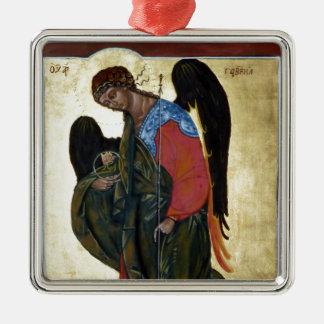 Angel Gabriel Square Metal Christmas Ornament