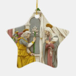 Angel Gabriel The Annunciation To Mary Ceramic Ornament