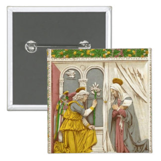 Angel Gabriel The Annunciation To Mary Pinback Button